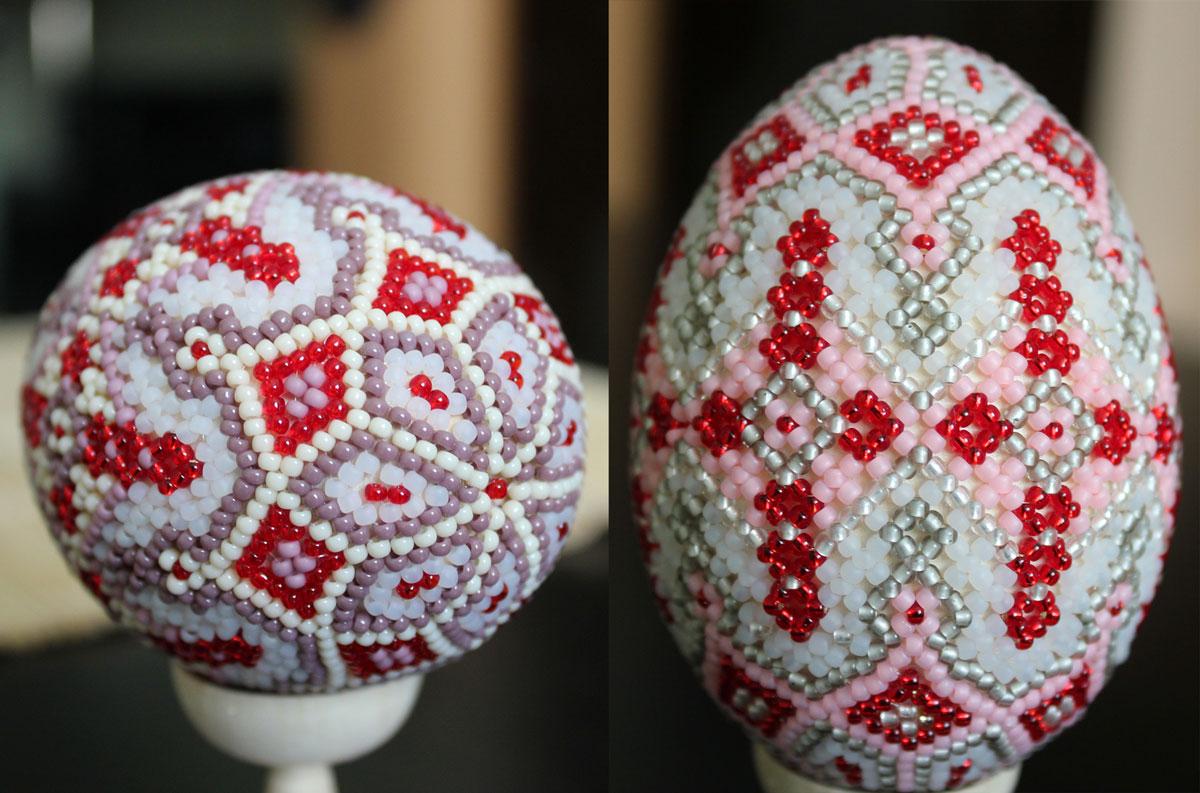 Пасхальное яйцо из бисера со схемами фото 522