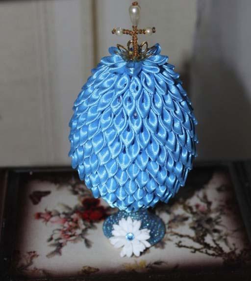канзаши пасхальное или сувенирное яйцо