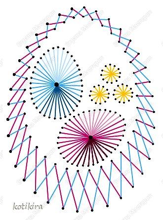 Схемы-рисунки в технике изонить пасха