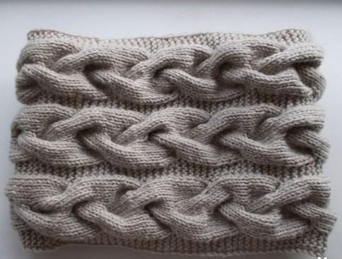 Шарф-хомут для девочки: схема вязания спицами