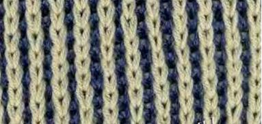 Двухцветный патентный узор (резинка)