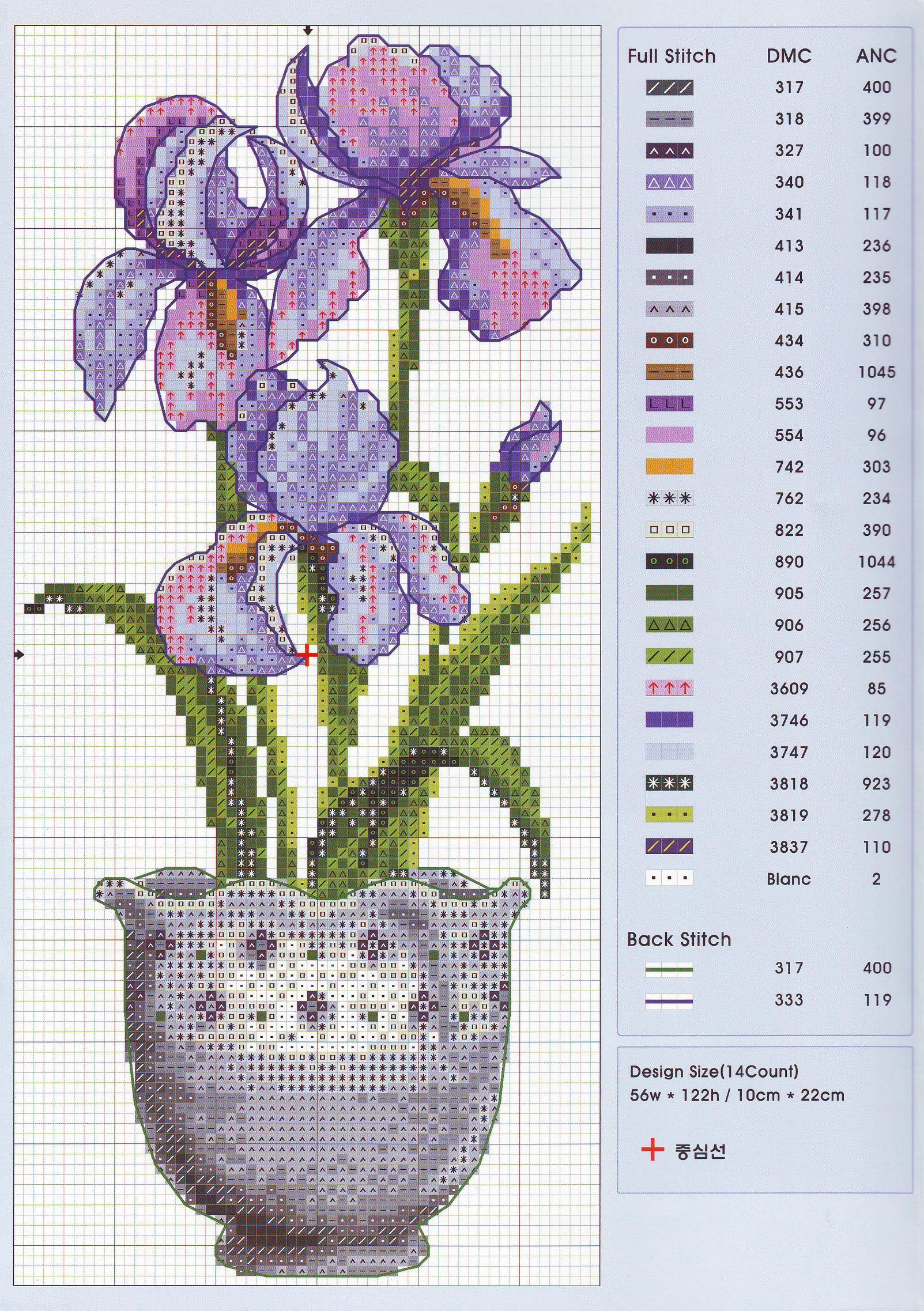 Вышивание букета синих цветов из бисера: мастер-класс